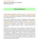 Recommandations Rencontre Maroc et CC 06-01-2016 1