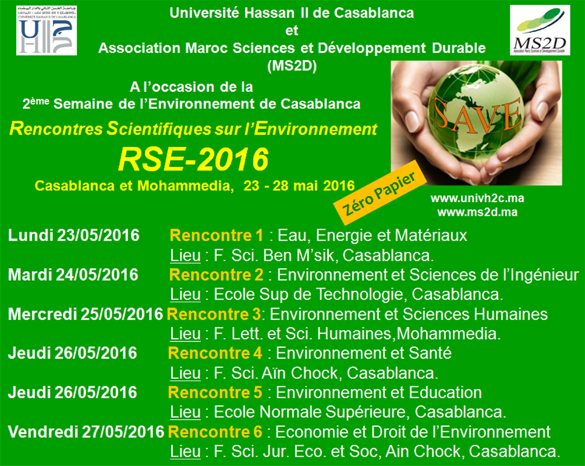 Rencontres scientifiques 2016