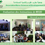 Evaluation des Animations de MS2D 15-06-2016